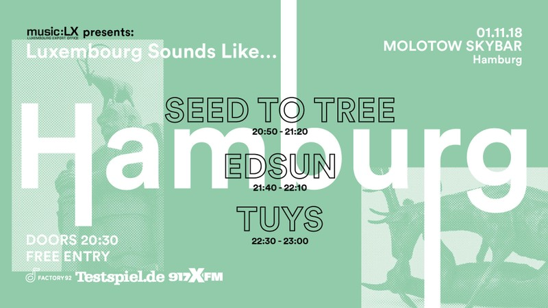 Luxembourg sounds like….! Reeperbahnfestival Revival im Molotow! Drei Bands for free!