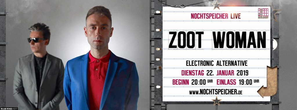 I got a feeling – it's automatic! Zoot Woman live im Nochtspeicher Hamburg! Win Tickets!