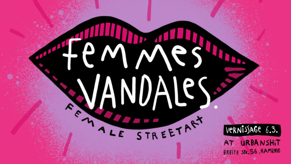 Femmes Vandales – internationale Female Street Art in der Urbanshit Gallery
